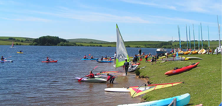 Siblyback Lake with its water sports is also close by